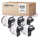 5 Mycartridge DK-22205 DK22205 etiquetas continuas compatibles para Brother P-Touch QL1050 QL1060N QL500 QL500BW QL560VP QL570 QL580 QL700 QL710W QL800 QL810W QL820NWB