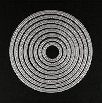 Banbo Yohi Cerchi concentrici creativo Album Scrapbooking goffratura carta artigianale taglio muore Stencil