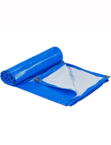 Tent Accessoires Plastic Tarp regenzeil Tent met Zachte Vouwen RVS Wrap Hoek voor Fiets Motorfiets Graan Dak Tarpaulin Blauw/Wit 12 mil Tuin Buiten 5mx6m