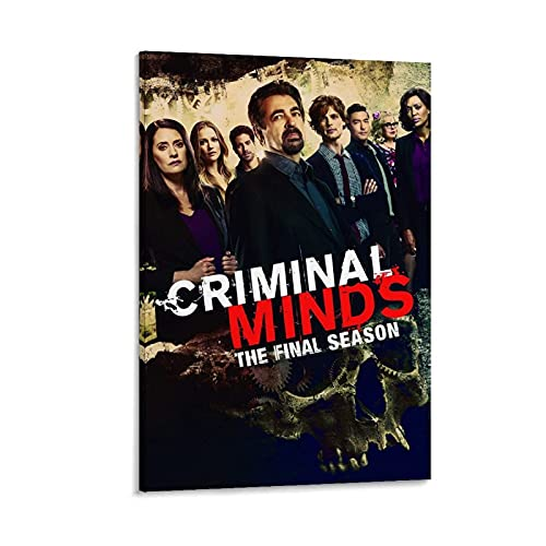 OUYJ Criminal Minds Saison 15 The Final Season Movie Impression sur toile murale moderne 40 x 60 cm