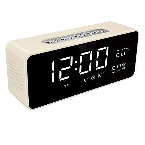 DZXYW Reloj Despertador Despertador de Temperatura de Radio FM con LED Grande Regulable de 8 Pulgadas DisplyUsb Puerto de Cargador de batería Recargable Reloj de Respaldo
