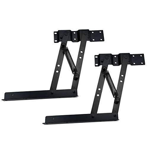 Lift Up Top Coffee Table Mechanism 1 Pair Folding Lifting Frame for Furniture Lifting Mechanism of Coffee Table Multi-Functional Pneumatic Air Spring Lifting Bracket