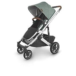 UPPAbaby Cruz V2 Stroller – Emmett (Green Melange/Silver/Saddle Leather)