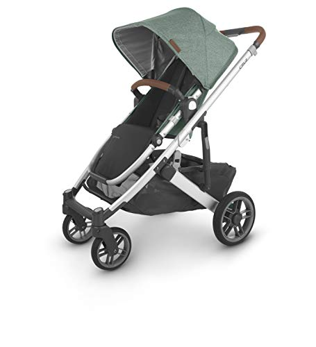 UPPAbaby Cruz V2 Stroller - Emmett (Green Melange/Silver/Saddle Leather)