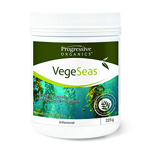 Progressive Organics VegeSeas – Aquatic Vegetable Nutritional Powder – Unflavoured, 225 g | Organic, non-GMO, made with…