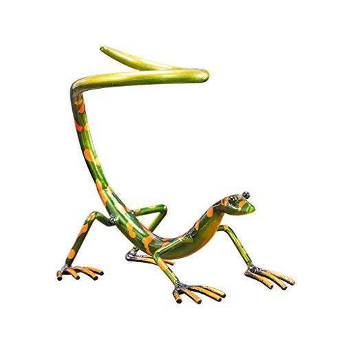 Barir Creativo gabinete de vino decoración gecko vino estante de vino, sala de estar en casa simples adornos retro de hierro forjado, elegante y lindo, hermoso y vivo, regalos para amigos y familiares