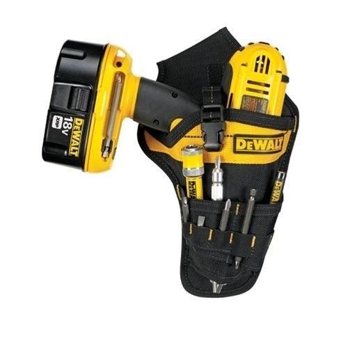 Focuslife DeWalt DG5120 - Heavy-Duty Cordless Drill Holster Tool Belt Pouch w/Bit Holder