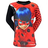 Miraculous Ladybug Tee Shirt Manches Longues Fille - Rouge (6 Ans)