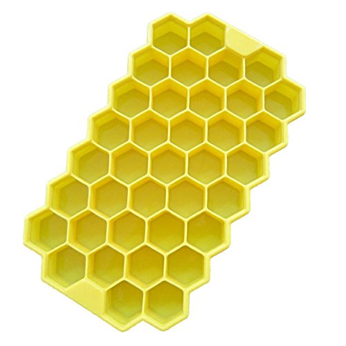1 Packung, 38 Grid Honeycomb Shape Eiswürfelform Wiederverwendbare Silikonwürfel Eismaschine Leicht zu entfernen für Tiefkühlkost