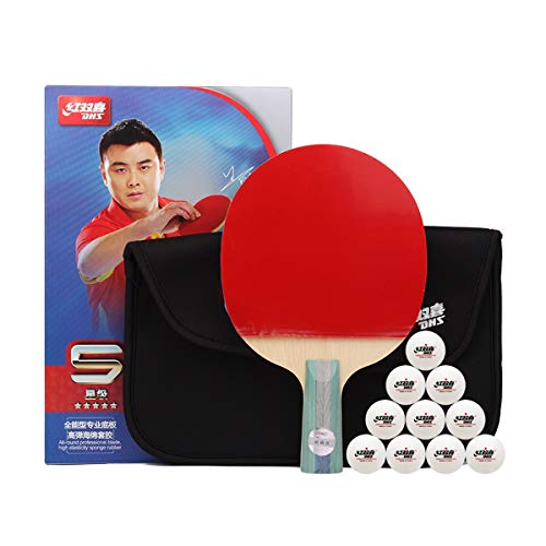 For Sale! HUIJUNWENTI Table Tennis Racket, Six-Star Professional Level, Beginners Ping-Pong Single S...
