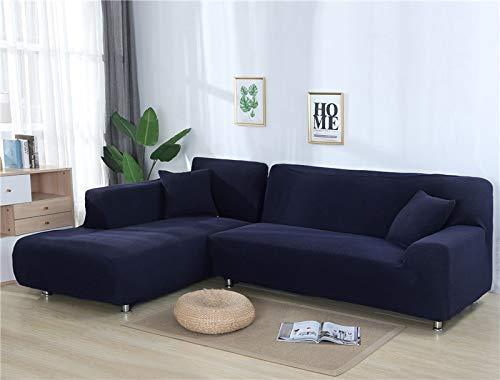 ASCV Fundas de sofá Lisas para Sala de Estar Funda de sofá de Forro Polar elástico Funda de sofá de Esquina Funda Protectora de sofá seccional en Forma de L A5 2 plazas