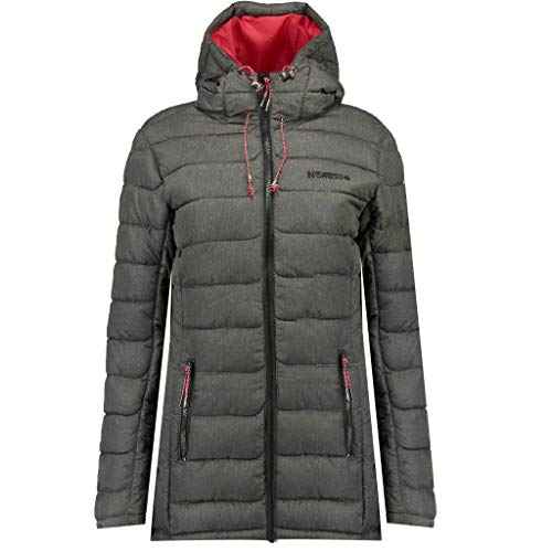 Geographical Norway Astana - Parka con capucha para mujer antracita XL