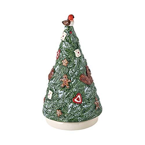 Villeroy & Boch - Nostalgic Melody Baum, Tannenbaumfigur mit Drehfunktion und Spieluhr, Porzellan, bunt, 9 x 9 x 17 cm