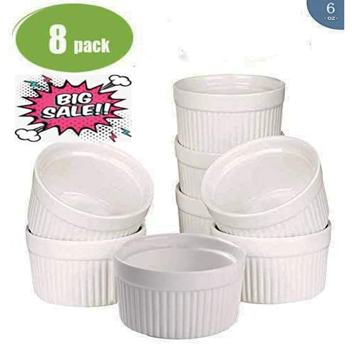 Colorful And Multiple Purposes Uses Of 12 Pc Set Patriotic Stoneware Ramekin With Lids By CTD Store Red, White, Blue