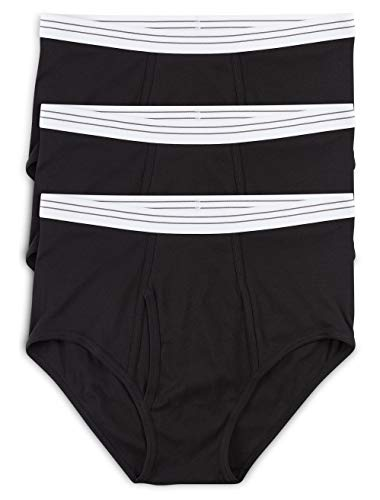 Harbor Bay by DXL Big and Tall Color Briefs, Black 3XL, Pack of 3