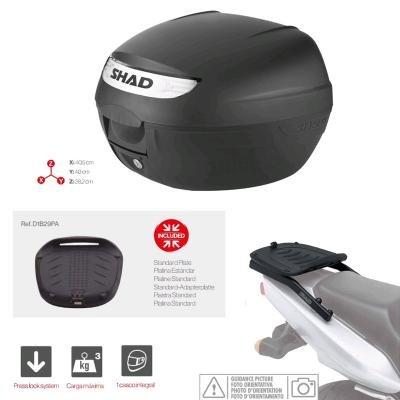Kit-shad-90 - kit fijacion y maleta baul trasero sh26 compatible con daelim roadwin 125 2006-2014