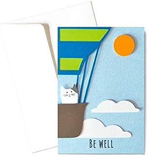 Be well - mongolfiera - biglietto d'auguri (formato 15 x 10,5 cm) - vuoto all'interno, ideale per il tuo messaggio persona...
