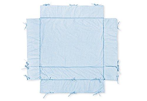 Pinolino 77685-2U - Laufgitter-Einlage universal, Vichy Karo hellblau