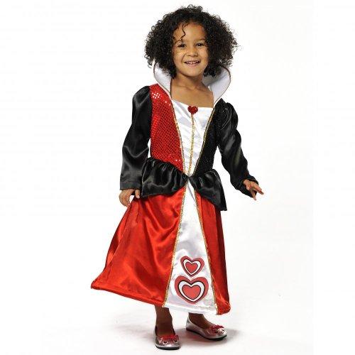 Queen of Hearts Girls Fancy Dress Costume – Alice in Wonderland 5-7