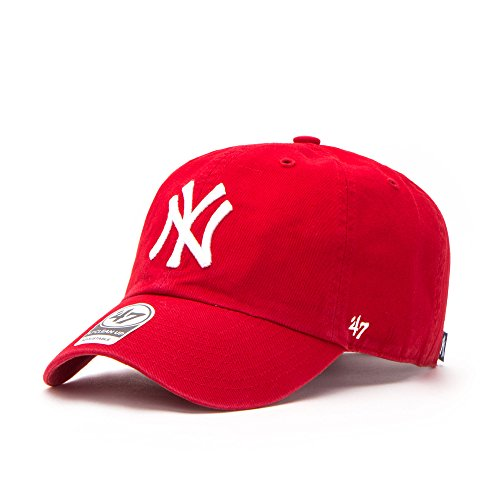 47Brand New York Yankees - Gorra para Adulto, Color Rojo