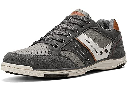 AX BOXING Freizeitschuhe Herren Berufsschuhe Sneaker Wanderschuhe Trainers (44 EU, A9099-Grau)