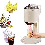 Máquina de helado eléctrica casera Recetas Cono Máquina Máquina Máquina Máquina de helado de frutas totalmente automática Servir suave Máquina de helado