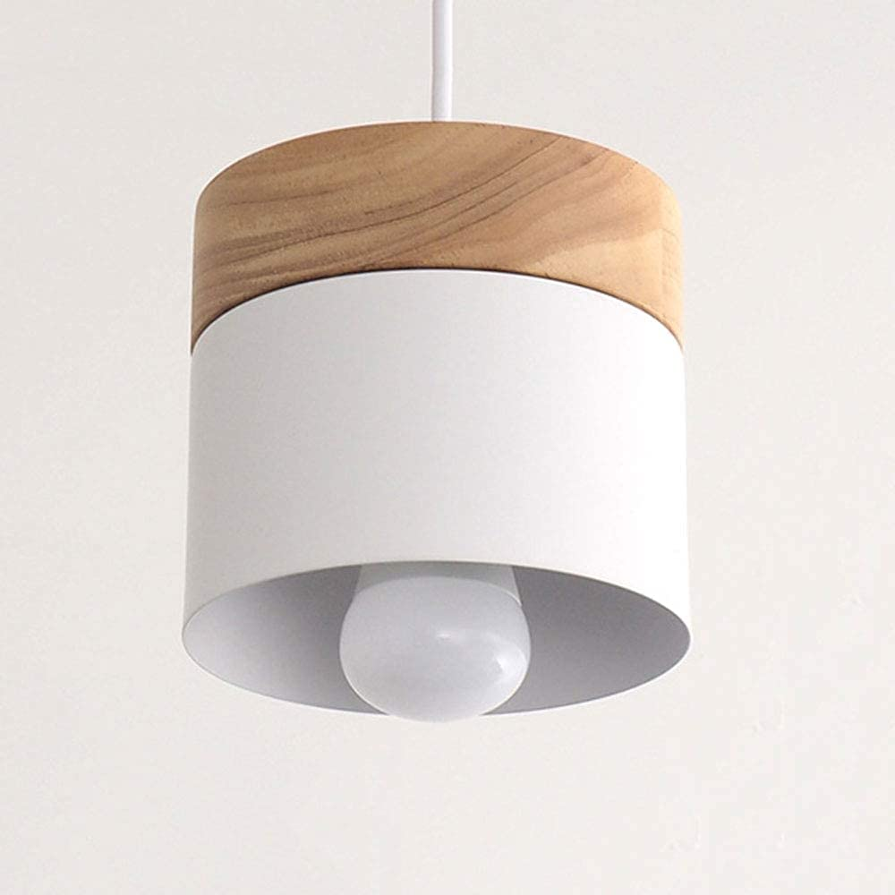 QTQHOME Small Wooden Hanging Swag Modern Latest item Dedication Lampshade Metal Lamp Pe