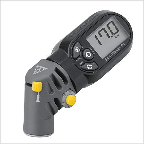 Topeak Präzisions-digital Manometer SmartGauge D2 Druckluftprüfer, Grey, One Size