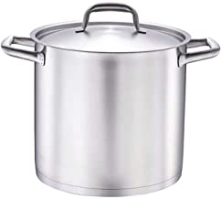 TGUO Soup Pot Cooker Induction Cooker Gas Universal 304 Stainless Steel Barrel Pot with lid Thick Bottom Soup Pot 11L