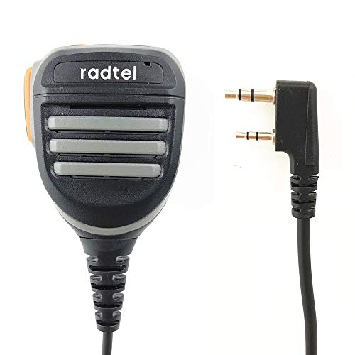 Radtel Platinum Series Rainproof Heavy Duty Shoulder Remote Speaker Mic Compatible with MD-380 MD-UV380 UV8000E Kenwood Baofeng UV-5R UV-82HP BF-F8HP UV-5X3 Btech radios,Microphone… (Advanced Mic)