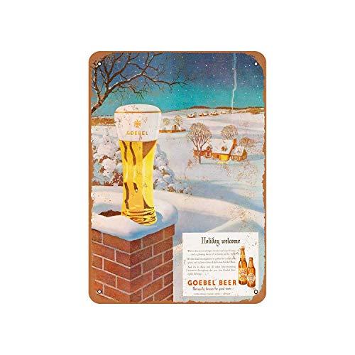 No Branded Goebel - Placa decorativa de metal para pared, diseño de cerveza para las fiestas