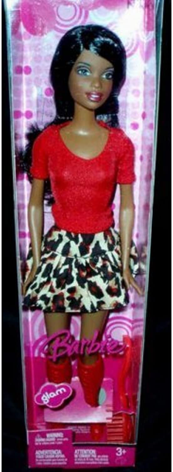Barbie Glam Nikki Doll with Red bluese and Leopard Skirt