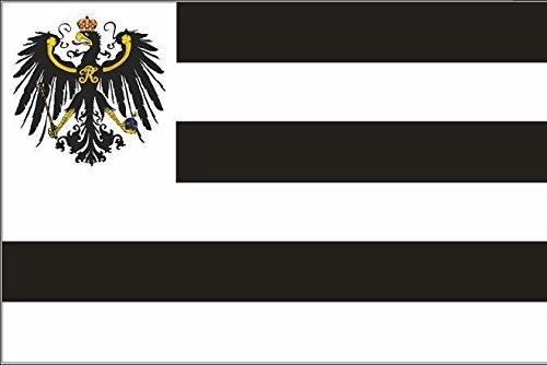 U24 Fahne Flagge Hohenzollern Bootsflagge Premiumqualität 100 x 150 cm