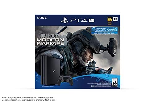 Ensemble Console PS4 Pro 1To avec jeu Call of Duty: Modern Warfare - 0