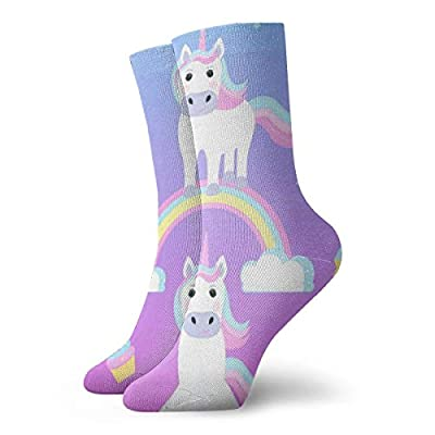JL85hao Unicornios y arcoíris Calcetines cortos para adultos Calcetines cómodos de algodón Senderismo Ciclismo Correr Fútbol Deportes