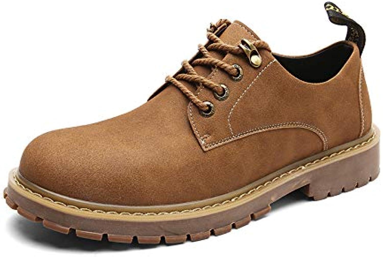 Shukun Men's boots Autumn Men'S shoes Outdoor Tooling shoes Low To Help Men'S Casual shoes Men'S Wild Martin Boots Men