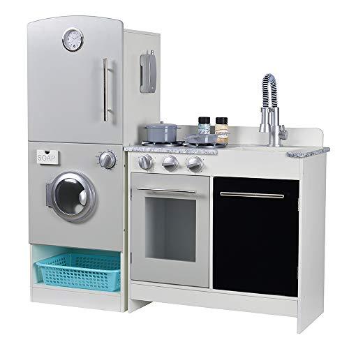 WOOMAX - Cocina de madera modular Modern (ColorBaby 85289)
