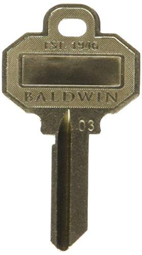 Baldwin C House Key Blank