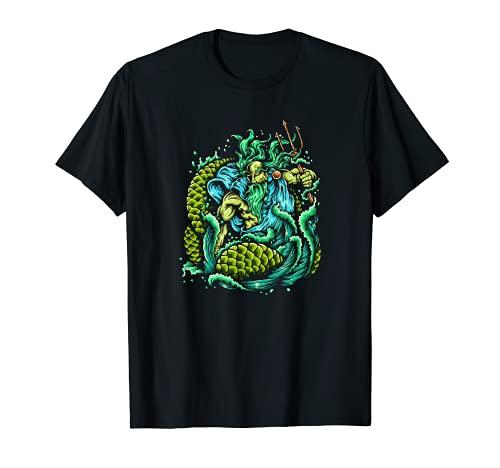 Poseidon T-Shirt - King Of The Sea Greek Mythology Ocean Tee