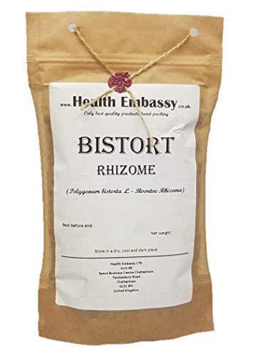Health Embassy Schlangen-Knöterich Rhizome Tee (Polygonum Bistorta L.) / Bistort Rhizome Tea, 50g