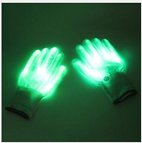 Tafellamp, bedlamp, leeslamp, 1 paar LED-handschoenen, helderend, kleurrijk, knipperend, handschoenen, skelet, Halloween, kostuum, podium, vakantie, evenementen