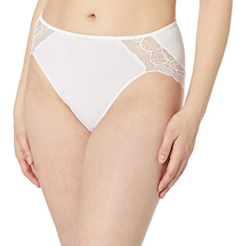 Bali Women's Lace Desire Microfiber Hi Cut, White, 6