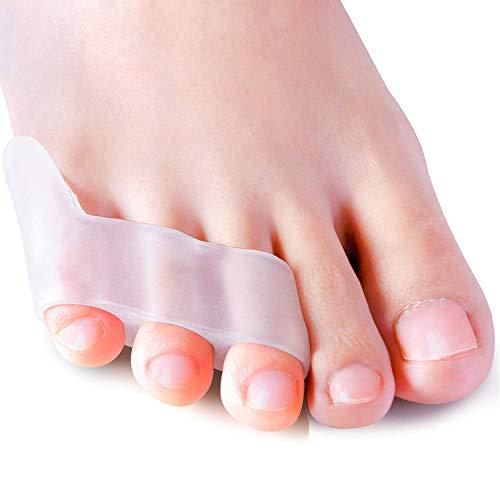 Sumiwish [10x] Zehenspreizer Silikon, Kleiner Zehen Separator & Protektor für überlappende Zehen, Relief Kleiner Zehen Druck und Schmerzen