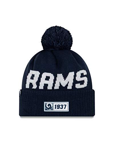 New Era Los Angeles Rams Beanie Knit NFL 2019 on Field Road 1937 Blue - One-Size