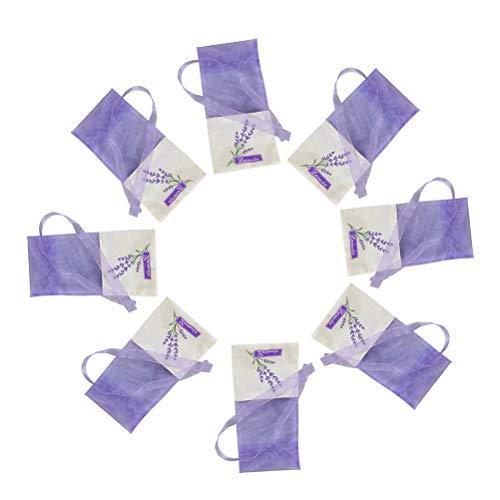 VOSAREA Lavendel Beutel Leere Duft Lavendelsäckchen Kordelzugbeutel Sack Duftsäckchen 30 Stück (Hell Lila)