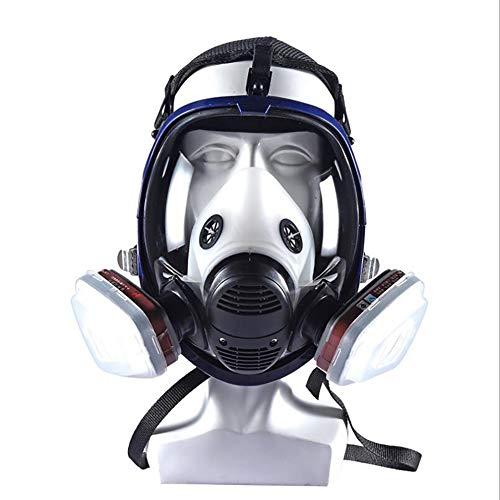 LTJY respiratore Pieno facciale, Maschera Antigas Respiratore con Protezione per Visiera, Cotone filtrante, Respiratore di Sicurezza Professionale per Vernice, Polvere, Prodotti Chimici