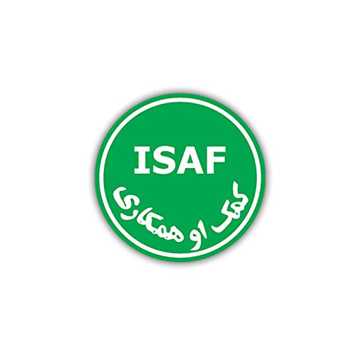 Aufkleber/Sticker ISAF Afghanistan NATO Vereinigte Nationen Wappen 7x7cm A798