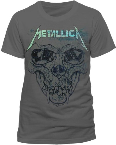 Live Nation - T-shirt Homme Metallica - Pushead Ionised - Gris (Charcoal) - Small
