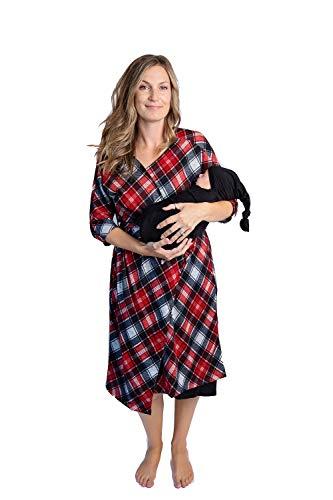 Dressed to Deliverver Schwangerschaftsmantel für Krankenhaus, mit Wickeldecke Weich...