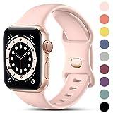 CeMiKa Compatible con Apple Watch Correa 38mm 42mm 40mm 44mm, Deportivas de Silicona Correas de...